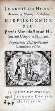 Μικροκοσμος Seu Brevis Manuductio ad Historiam Corporis Humani...