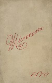Microcosm yearbook for 1889-90