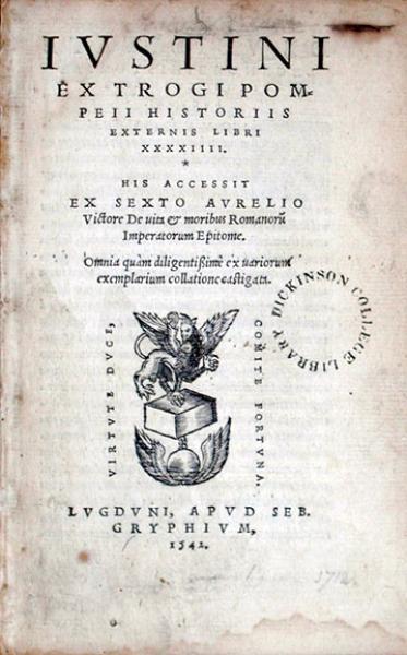 Ex Trogi Pompeii Historiis Externis Libri XXXXIIII...