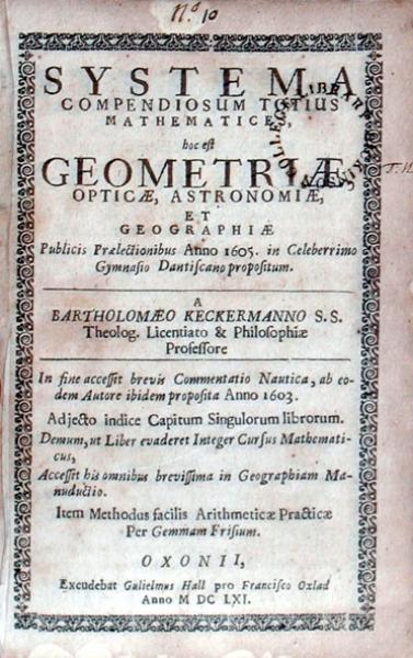 Systema Compendiosum Totius Mathematices... (Pts. 1 and 6)