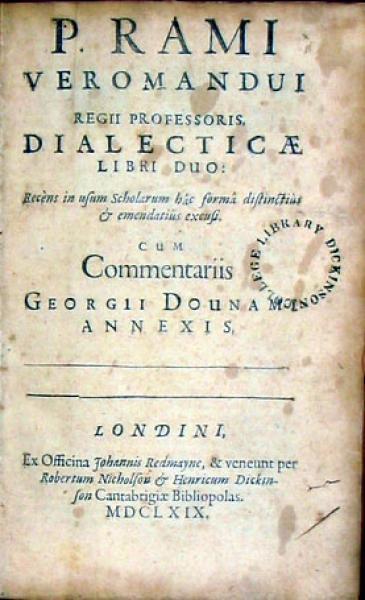 Dialecticae Libri Duo..Cum Commentariis Georgii Dounami Annexis