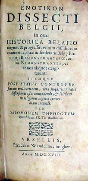 'Ενοτικον Dissecti Belgii, in quo Historica Relatio originis...