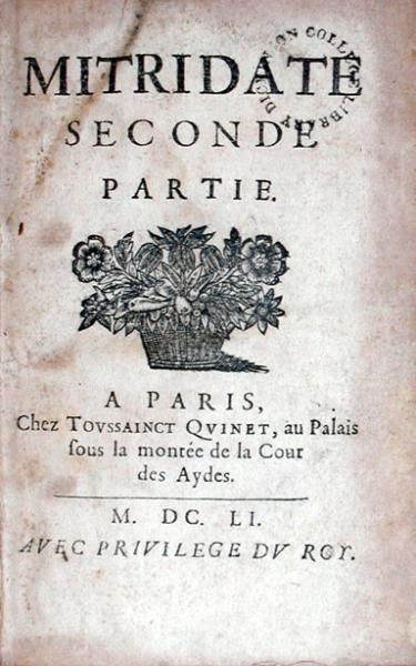 Mitridate Seconde Partie. (-Svitte)