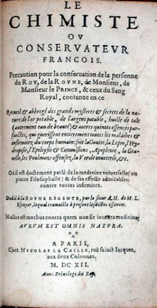 Le Chimiste ov Conservatevr Francois