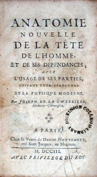 Anatomie Nouvelle De La Tête De L'Homme, Et De Ses Dépendance...