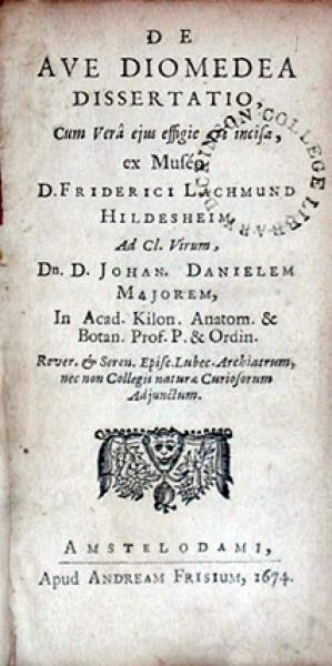 De Ave Diomedea Dissertatio