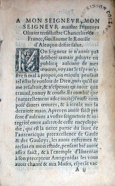 Recueil de l'antiquité, préexcellence de Gaule et des Gauloys