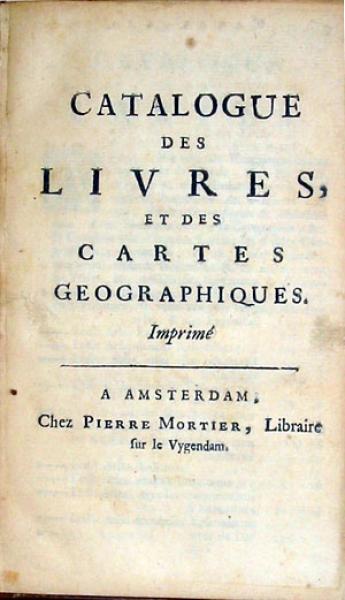 Catalogue Des Livres, Et Des Cartes Geographiques
