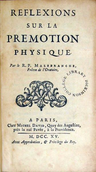 Reflexions Sur La Premotion Physique