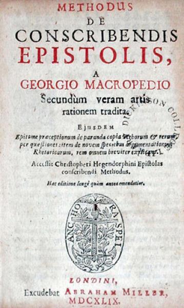 Methodus De Conscribendis Epistolis….Accessit...