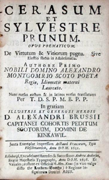 Cerasum Et Sylvestre Prunum. Opus Poematicum. De Virtutum & Vitiorum pugna