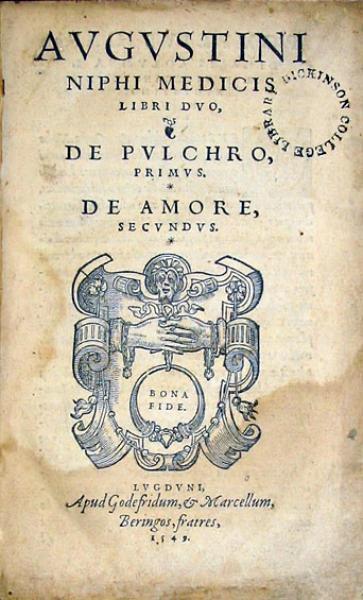 Libri Dvo, De Pvlchro, Primvs.  De Amore, Secvndvs.