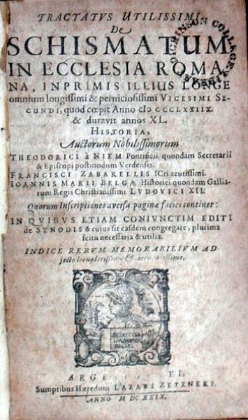 Tractatvs Utilissimi De Schismatum In Ecclesia Romana…Historia...