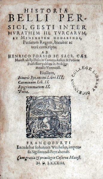 Historia Belli Persici, Gesti Inter Mvrathem III...