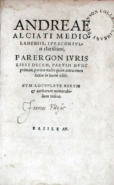Parergon Ivris Libri Decem