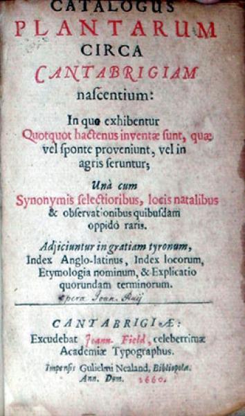 Catalogus Plantarum Circa Cantabrigiam nascentium