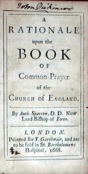 A Rationale upon the Book of Common-Prayer of the Church of England