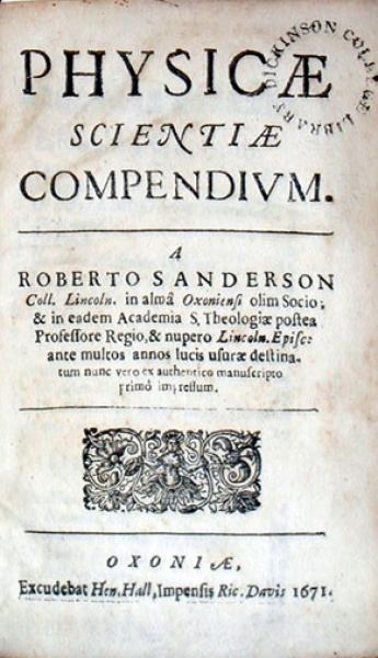Physicae Scientiae Compendivm