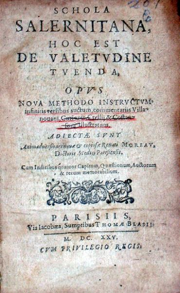 Schola Salernitana, Hoc Est De Valetvdine Tvenda...