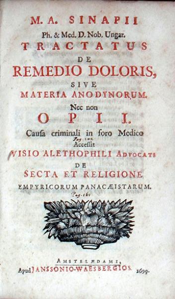 Tractatus De Remedio Doloris, Sive Materia Anodynorum
