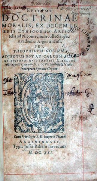 Epitome Doctrinae Moralis, Ex Decem Libris Ethicorum Aristotelis...