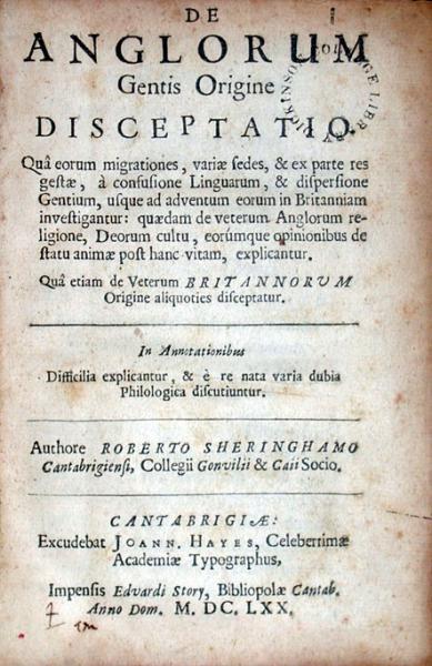 De Anglorum Gentis Origine Disceptatio