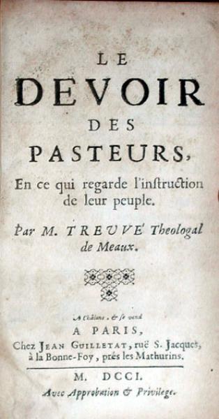 Le Devoir Des Pasteurs, En ce qui regarde l'instruction de leur people