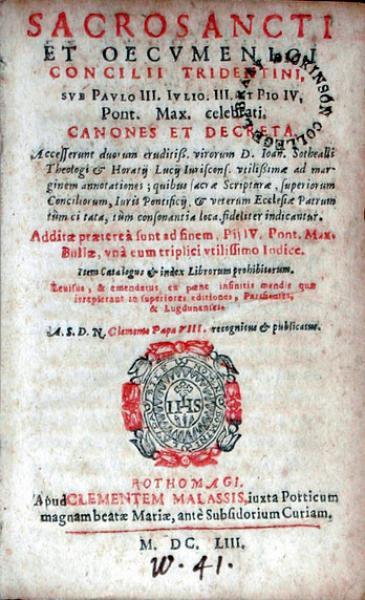 Canones Et Decreta. Item Catalogus & index Librorum prohibitorum