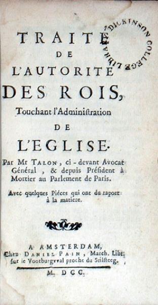 Traité De L'Autorite Des Rois, Touchant l'Administration De L'Eglise