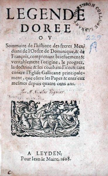 Legende Doree Ov Sommaire de l'histiore [sic]...
