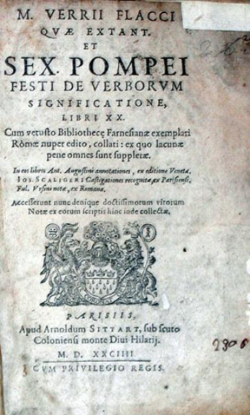 ...Pompei Festi De Verborvm Significatione