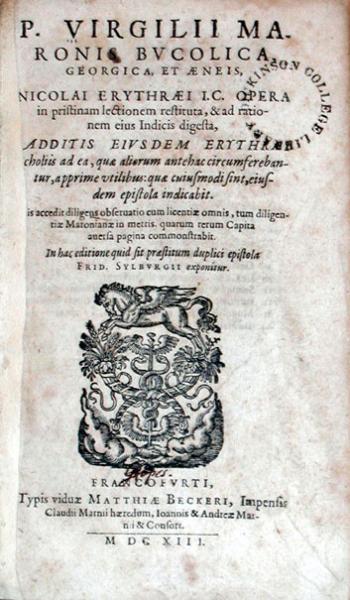Bvcolica, Georgica, Et Aeneis