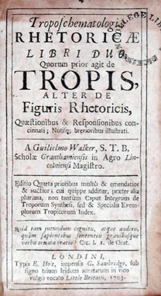 Troposchematologiae Rhetoricae Libri Duo; Quorum prior agit de Tropis...