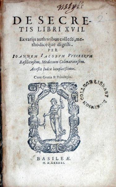 De Secretis... Ex varijs authoribus collecti