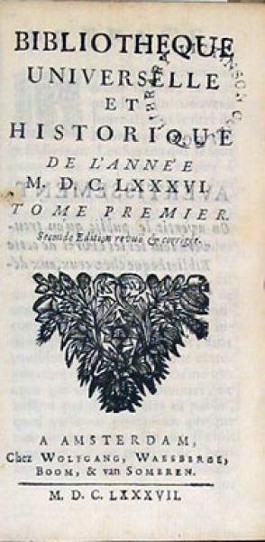Bibliotheque Universelle et Historique
