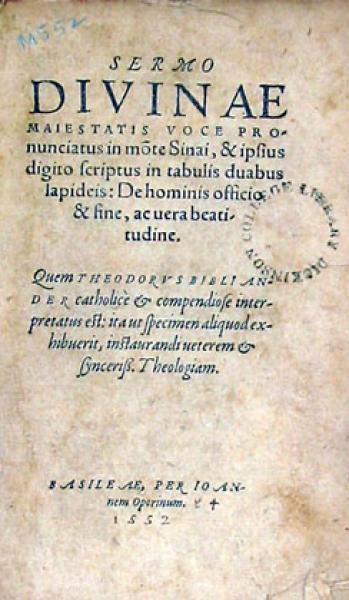 Sermo Divinae Maiestatis Voce Pronunciatus in mote Sinai...