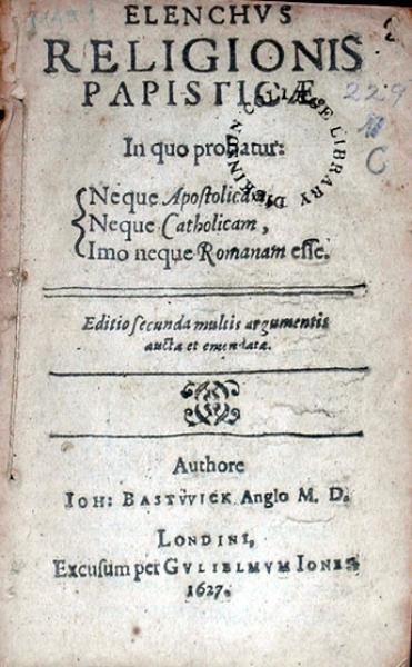 Elenchvs Religionis Papisticae