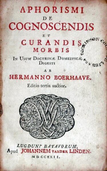 Aphorismi De Cognoscendis et Curandis Morbis In Usum Doctrinae...