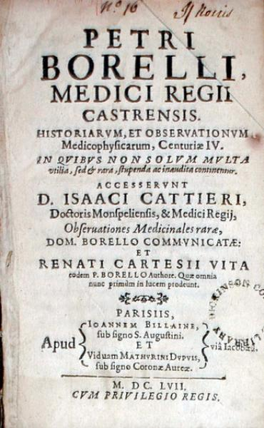 Historiarvm, et Observationvm Medicophysicarum, Centuriae IV... (II, III)