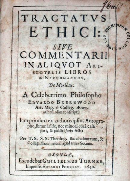 Tractatvs Ethici: Sive Commentarii In Aliqvot Aristotelis Libros...