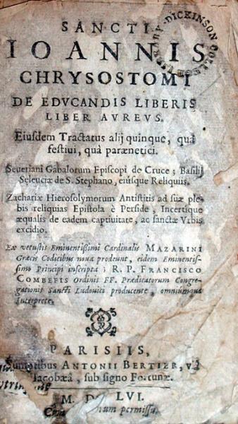 De Edvcandis Liberis Liber Avrevs. Eiusdem Tractatus alij quinque...