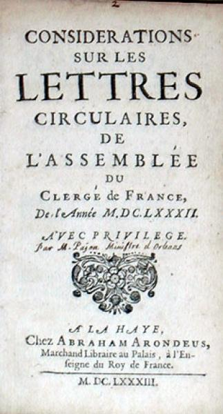 Considerations Sur Les Lettres Circulaires, De L'Assemblée Du Clergé...