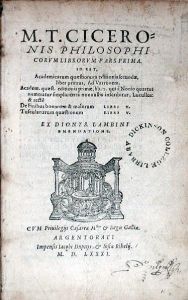 Philosophicorvm Librorvm Pars Prima...