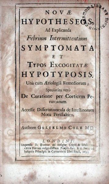 Novae Hypotheseos, Ad Explicanda Febrium Intermittentium Symptomata...