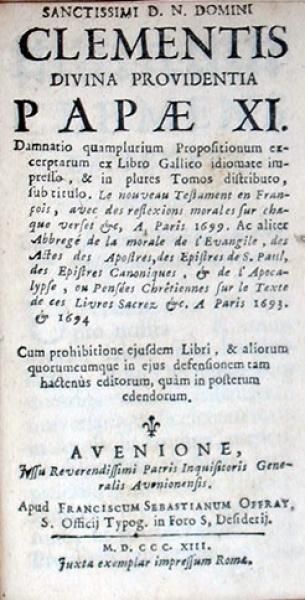 Damnatio quamplurium Propositionum excerptarum ex Libro Gallico...