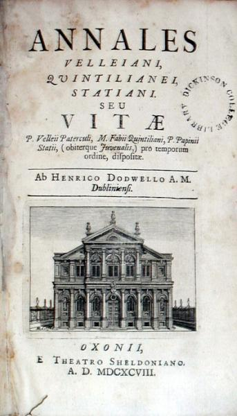 Annales Velleiani, Quintilianei, Statiani. Seu Vitae P. Velleii Paterculi...