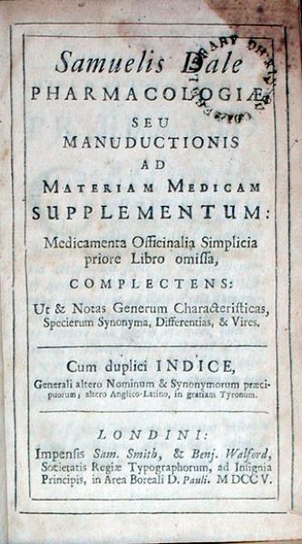 Pharmacologiae, Seu Manuductionis Ad Materiam Medicam Supplementum...