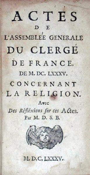 Actes De L'Assemblée Generale Du Clergé De France. De M.DC.LXXXV...