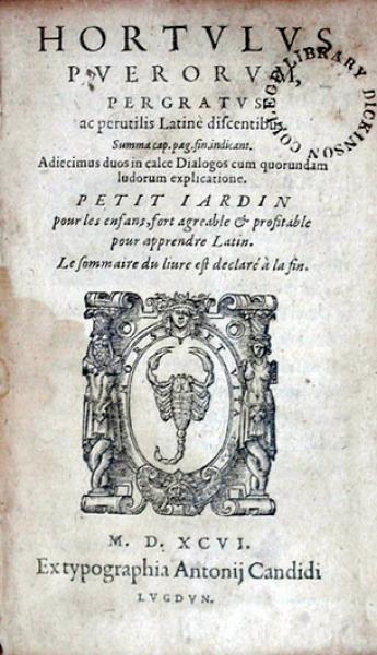 Hortvlvs Pverorvm, Pergratvs ac perutilis Latinè discentibus...