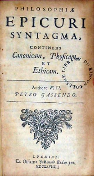 Institutio Logica, Et Philosophiae Epicuri Syntagma